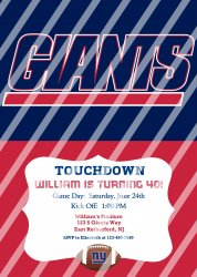 New York Giants Personalized Digital Party Invitation #21 (any occasion)