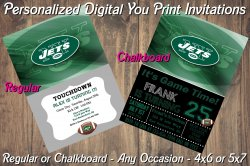 New York Jets Personalized Digital Party Invitation #4 (Regular or Chalkboard)