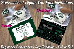 New York Jets Personalized Digital Party Invitation #6 (Regular or Chalkboard)
