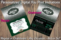 New York Jets Personalized Digital Party Invitation #7 (Regular or Chalkboard)