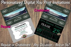 New York Jets Personalized Digital Party Invitation #8 (Regular or Chalkboard)