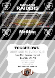 Oakland Raiders Personalized Digital Party Invitation #14 (any occasion)