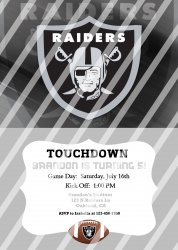 Oakland Raiders Personalized Digital Party Invitation #15 (any occasion)
