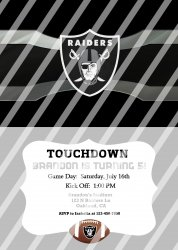Oakland Raiders Personalized Digital Party Invitation #16 (any occasion)