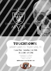 Oakland Raiders Personalized Digital Party Invitation #17 (any occasion)