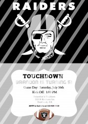 Oakland Raiders Personalized Digital Party Invitation #18 (any occasion)