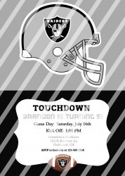 Oakland Raiders Personalized Digital Party Invitation #20 (any occasion)