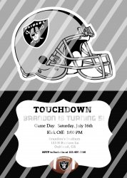 Oakland Raiders Personalized Digital Party Invitation #22 (any occasion)