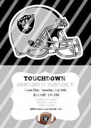 Oakland Raiders Personalized Digital Party Invitation #23 (any occasion)