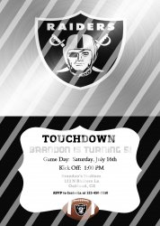 Oakland Raiders Personalized Digital Party Invitation #28 (any occasion)