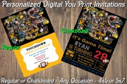 Pittsburgh Steelers Digital Party Invitation #2 (Regular or Chalkboard)