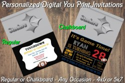 Pittsburgh Steelers Digital Party Invitation #10 (Regular or Chalkboard)