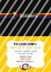 Pittsburgh Steelers Personalized Digital Party Invitation #11 (any occasion)