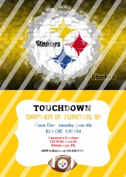 Pittsburgh Steelers Personalized Digital Party Invitation #12 (any occasion)