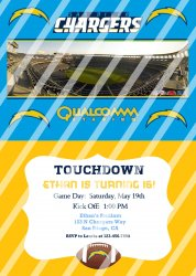 San Diego Chargers Personalized Digital Party Invitation #11 (any occasion)