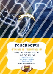 San Diego Chargers Personalized Digital Party Invitation #12 (any occasion)