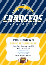 San Diego Chargers Personalized Digital Party Invitation #15 (any occasion)