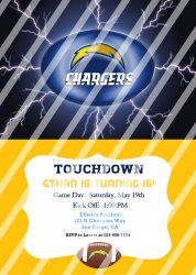 San Diego Chargers Personalized Digital Party Invitation #17 (any occasion)