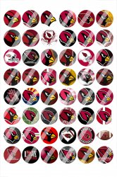 Arizona Cardinals Digital 14mm Circle Images #1 (instant download)