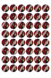 Arizona Cardinals Digital 14mm Circle Images #A19 (instant download)
