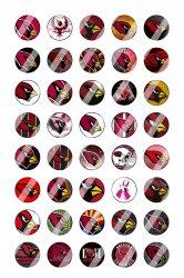 Arizona Cardinals Mini Bottle Cap 1/2 Circle Images Sheet #1 (instant download)