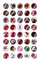 Arizona Cardinals Mini Bottle Cap 1/2 Circle Images Sheet #2 (instant download)