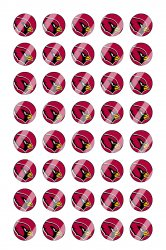 Arizona Cardinals Mini Bottle Cap 1/2 Circle Images Sheet #A1 instant download