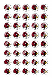 Arizona Cardinals Mini Bottle Cap 1/2 Circle Images Sheet #A11 instant download