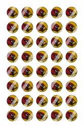 Arizona Cardinals Mini Bottle Cap 1/2 Circle Images Sheet #A15 instant download