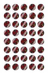 Arizona Cardinals Mini Bottle Cap 1/2 Circle Images Sheet #A16 instant download