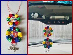 Autism Awareness Ribbon Rear View Mirror Charm #M7I9 (choose images,colors)