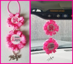Breast Cancer Awareness Ribbon Rear View Mirror Charm #N3L4 choose images,colors