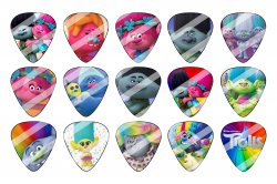 Trolls Guitar Pick Images Sheet #2 (instant download or pre cut)