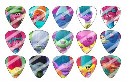 Trolls Guitar Pick Images Sheet #3 (instant download or pre cut)