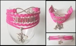 Breast Cancer Awareness Survivor Infinity Wrap Bracelet
