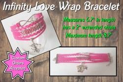Breast Cancer Awareness Survivor Infinity Love Wrap Bracelet