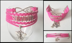'.Breast Cancer Bracelet.'