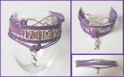 Alzheimers Awareness Infinity Wrap Bracelet