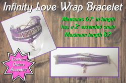 Alzheimers Awareness Infinity Love Wrap Bracelet