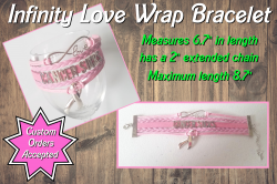 Breast Cancer Awareness Cancer Sucks Infinity Love Wrap Bracelet