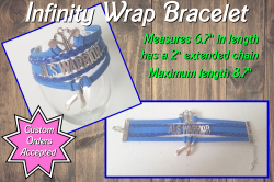 ALS Awareness Infinity Wrap Bracelet