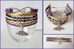 Baltimore Ravens Infinity Wrap Bracelet