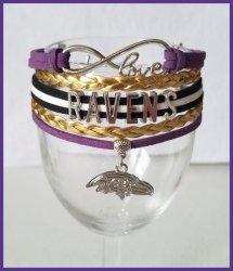 '.Ravens Infinity Wrap Bracelet.'