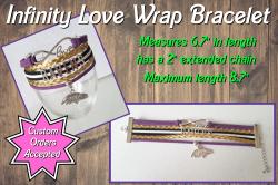Baltimore Ravens Infinity Love Wrap Bracelet