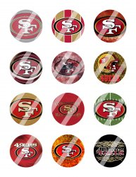 San Francisco 49ers 2 Circle Images Sheet #4 (digital file or pre cut)
