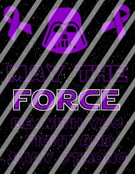 Alzheimers Star Wars Force Wall Decor Sign (digital or shipped)