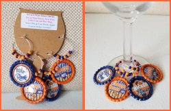 Set of 4 Chicago Bears Bottle Cap Wine Glass Charms #F2F4G2G5 (choose images)