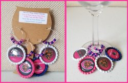 Set of 4 Chicago Bears Bottle Cap Wine Glass Charms #B15C6C14D2 (choose images)