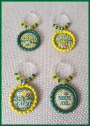 '.Packers Wine Glass Charms.'