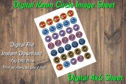 Kansas Missouri Sports Digital 16mm Circle Images Sheet #1 (instant download)